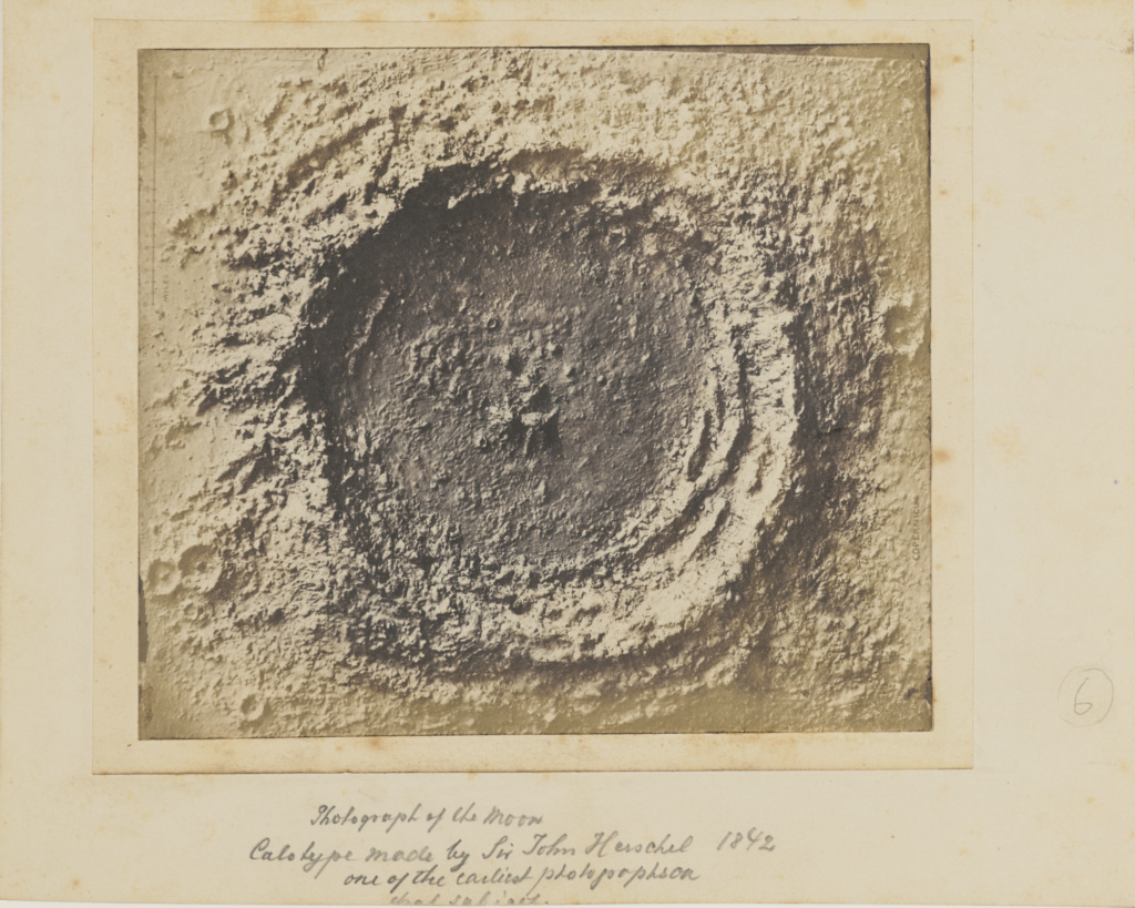 Moon Crater; Unknown; late 1850s; Salted paper print from a collodion negative; 13 × 16.5 cm (5 1/8 × 6 1/2 in.); 84.XP.259.16; Rights Statement: No Copyright - United States