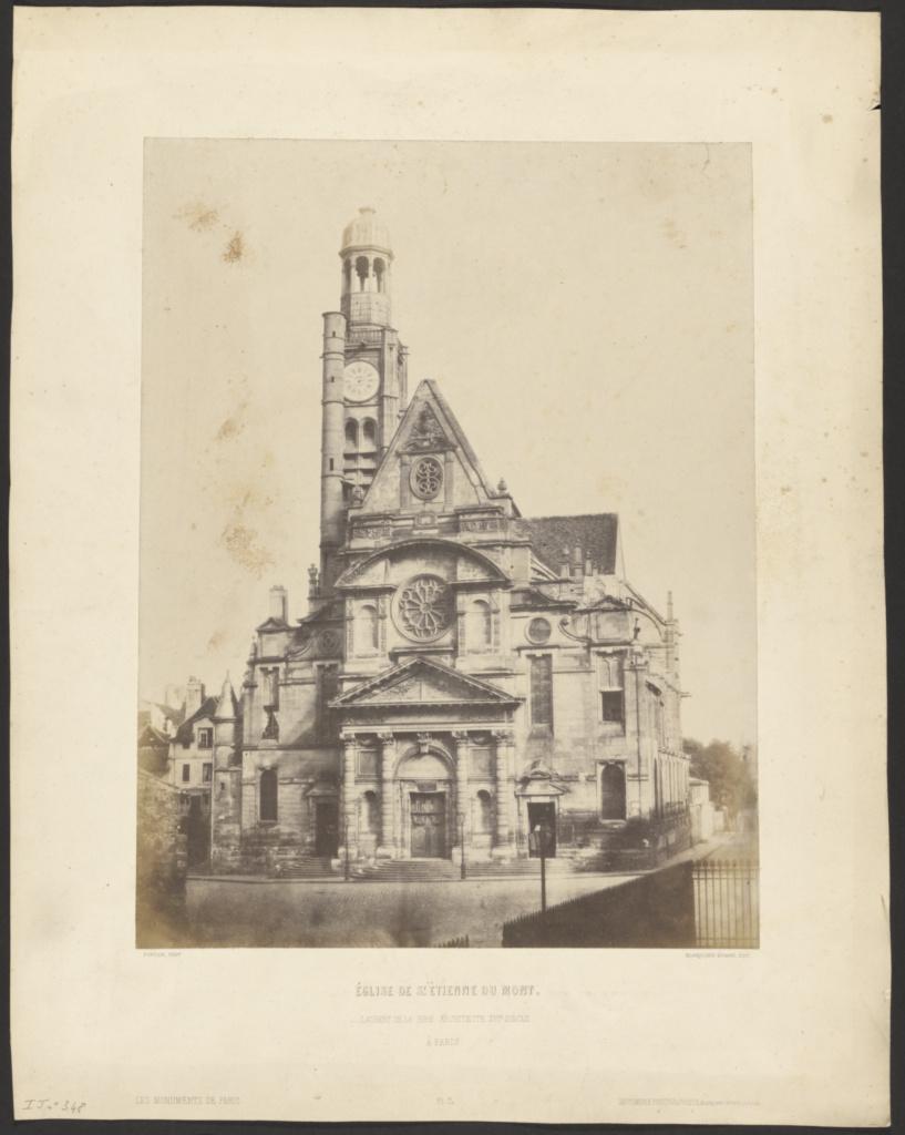 Eglise de St. Etienne du Mont; François Alphonse Fortier (French, 1825 - 1882), Louis Désiré Blanquart-Evrard (French, 1802 - 1872); Paris, France; 1853; Salted paper print; 35.8 × 27.6 cm (14 1/8 × 10 7/8 in.); 84.XP.345.41; The J. Paul Getty Museum, Los Angeles; Rights Statement: No Copyright - United States