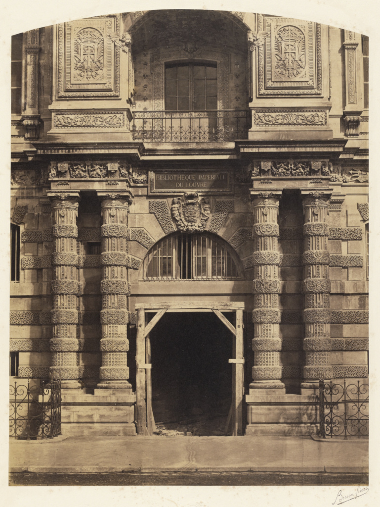 Entrance To The Imperial Library The Louvre Palace Paris Getty Museum