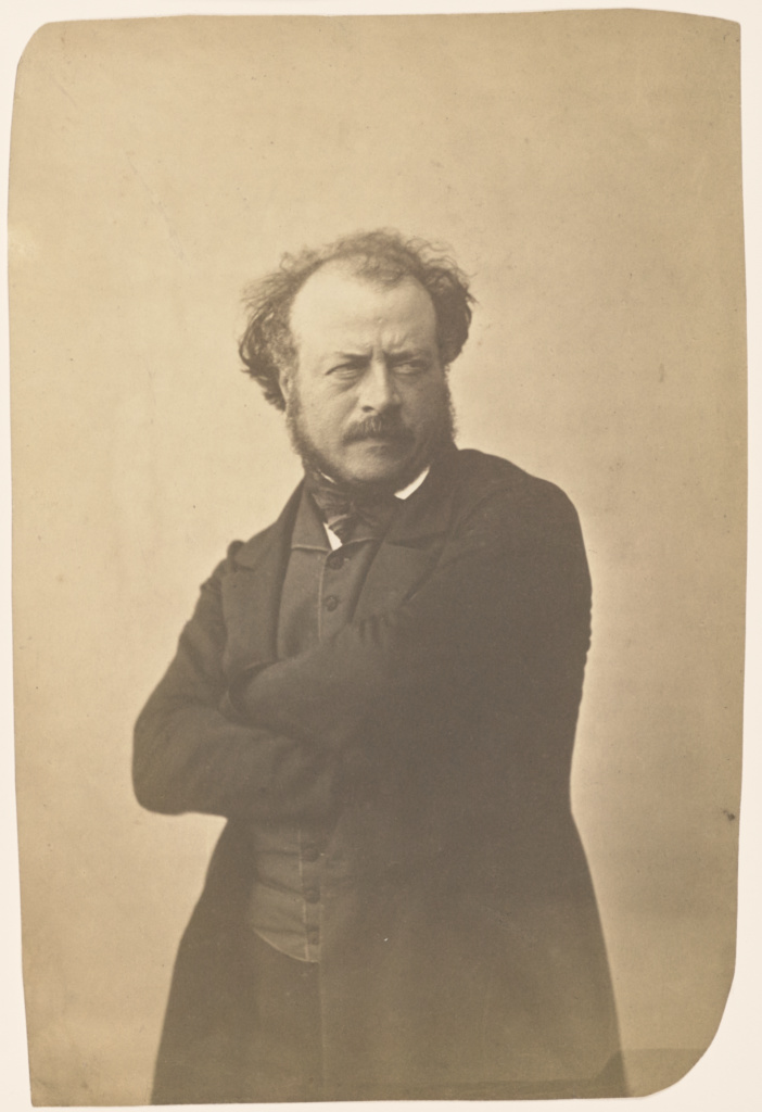A[uguste] Préault; Nadar [Gaspard Félix Tournachon] (French, 1820 - 1910); Paris, France; 1854–1855; Salted paper print; 23.7 × 17.1 cm (9 5/16 × 6 3/4 in.); 84.XM.436.9; The J. Paul Getty Museum, Los Angeles; Rights Statement: No Copyright - United States