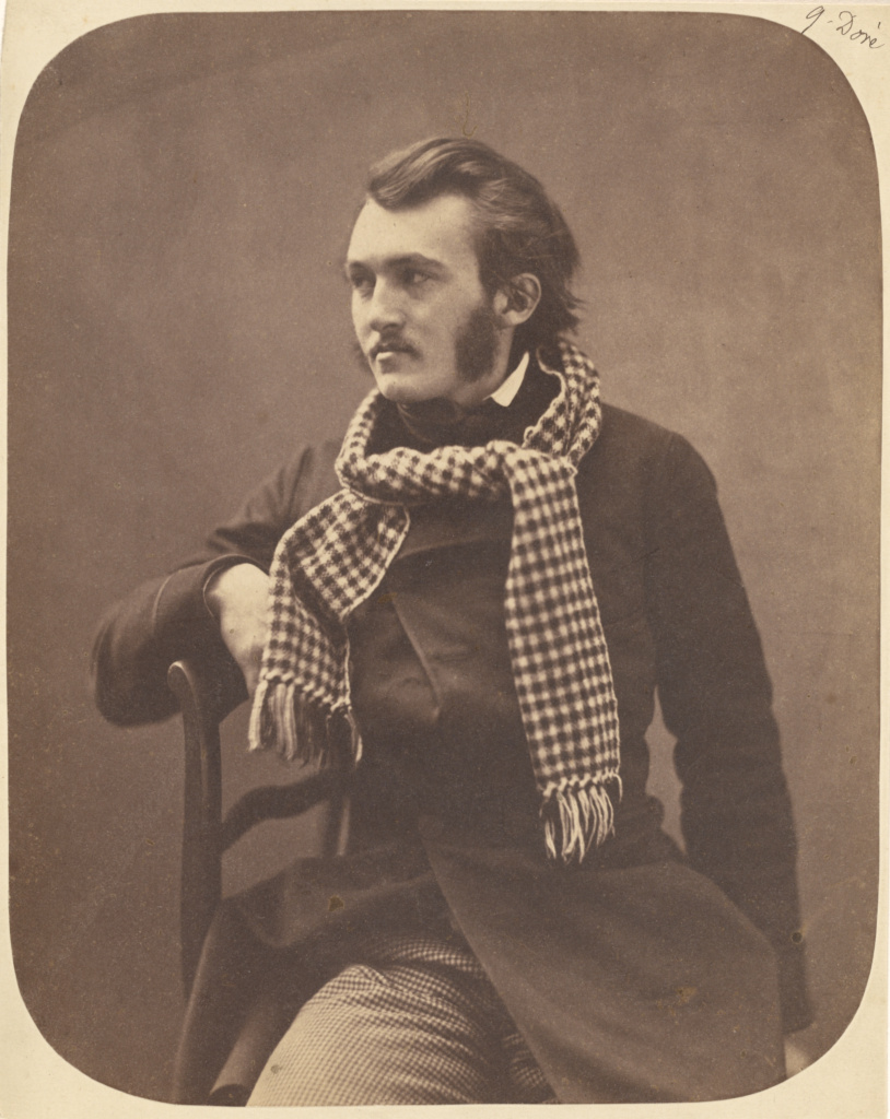 G[ustave] Doré; Nadar [Gaspard Félix Tournachon] (French, 1820 - 1910); Paris, France; 1856–1858; Salted paper print; 23.5 × 18.7 cm (9 1/4 × 7 3/8 in.); 84.XM.436.98; The J. Paul Getty Museum, Los Angeles; Rights Statement: No Copyright - United States