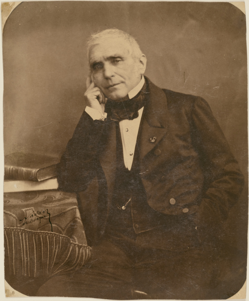 [Eugène Scribe]; Nadar [Gaspard Félix Tournachon] (French, 1820 - 1910); Paris, France; 1855–1859; Salted paper print; 24.4 × 19.8 cm (9 5/8 × 7 13/16 in.); 84.XM.436.452; The J. Paul Getty Museum, Los Angeles; Rights Statement: No Copyright - United States