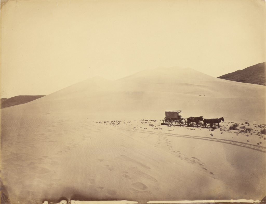 [Desert Sand Hills near Sink of Carson, Nevada]; Timothy H. O'Sullivan (American, about 1840 - 1882); Nevada, United States; 1867; Albumen silver print; 22.2 × 29.2 cm (8 3/4 × 11 1/2 in.); 84.XM.484.42; The J. Paul Getty Museum, Los Angeles; Rights Statement: No Copyright - United States