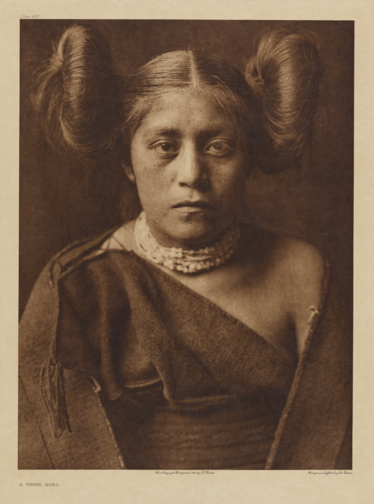 A Tewa Girl; Edward S. Curtis (American, 1868 - 1952); 1921; Gravure; 39.2 × 29.1 cm (15 7/16 × 11 1/2 in.); 84.XM.638.84; The J. Paul Getty Museum, Los Angeles; Rights Statement: No Copyright - United States