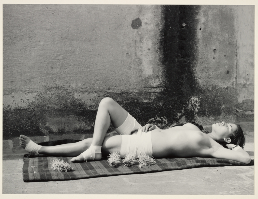 The Good Reputation, Sleeping / [La Buena Fama Durmiendo]; Manuel Álvarez Bravo (Mexican, 1902 - 2002); Mexico City, Mexico; negative 1938; print 1974; Gelatin silver print; 18.6 × 24.6 cm (7 5/16 × 9 11/16 in.); 84.XM.676.3; The J. Paul Getty Museum, Los Angeles; Rights Statement: In Copyright; Copyright: © Archivo Manuel Álvarez Bravo, S.C.