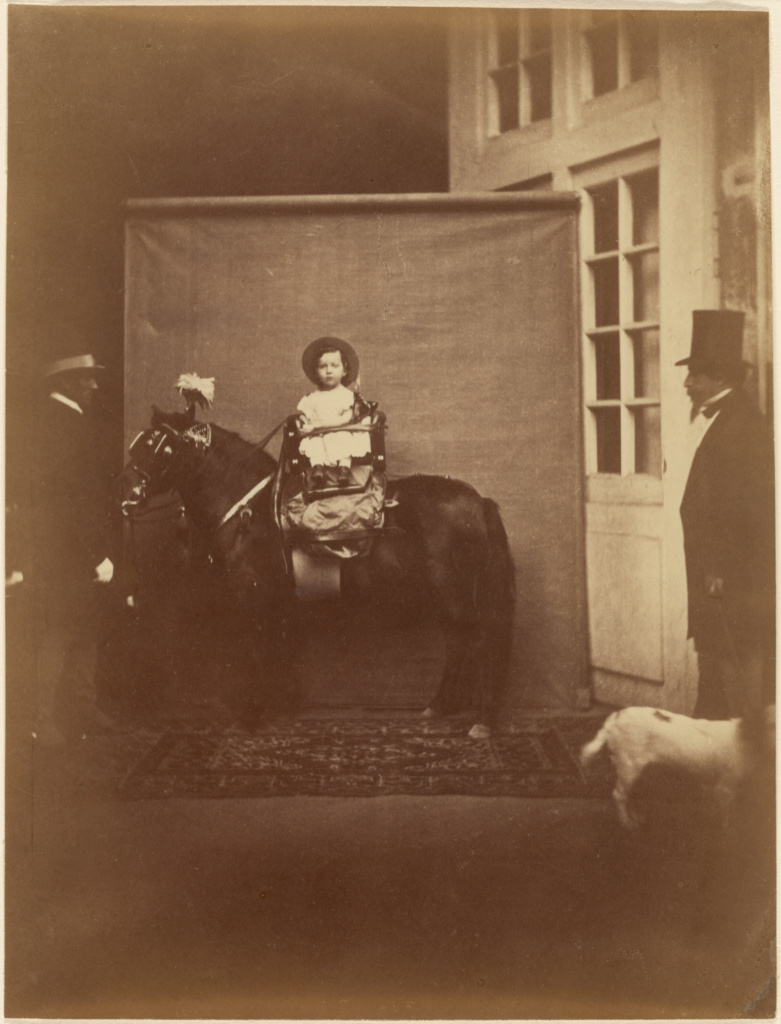 [Napoleon III and the Prince Imperial]; Pierre Louis Pierson (French, 1822 - 1913); about 1859; Albumen silver print from a wet collodion glass negative; 21 × 16 cm (8 1/4 × 6 5/16 in.); 84.XM.705.1; The J. Paul Getty Museum, Los Angeles; Rights Statement: No Copyright - United States
