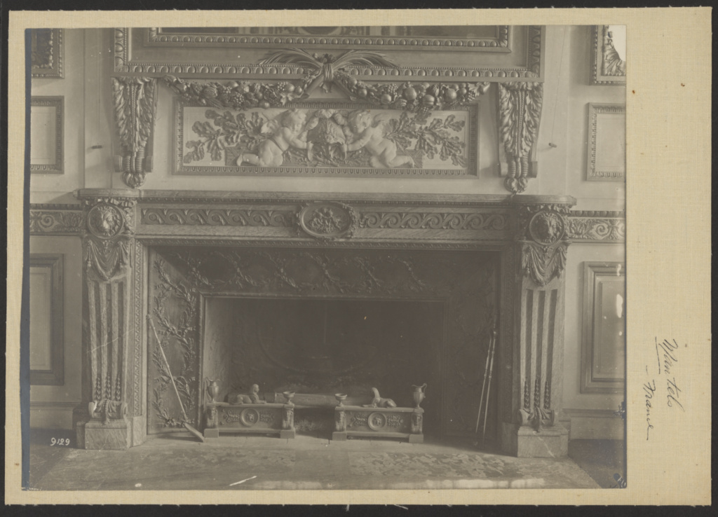[Fireplace Mantel]; Louis Parnard (French, 1840 - 1893); France; late 19th century; Gelatin silver print; 21.9 × 28.2 cm (8 5/8 × 11 1/8 in.); 84.XP.709.61; The J. Paul Getty Museum, Los Angeles; Rights Statement: No Copyright - United States