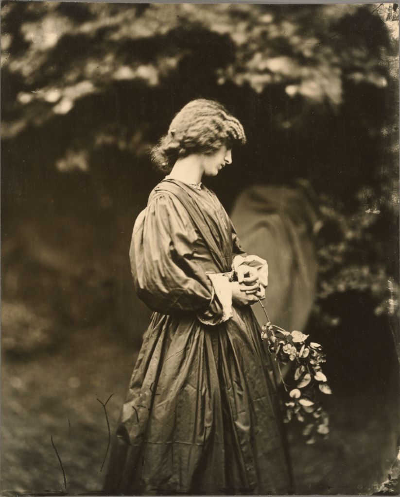 [Portrait of Jane Morris (Mrs. William Morris)]; John Robert Parsons (British, about 1826 - 1909); Cheyne Walk, Chelsea, England; negative July 1865; print after 1900; Gelatin silver print; 23.3 × 18.9 cm (9 3/16 × 7 7/16 in.); 84.XP.728.2; The J. Paul Getty Museum, Los Angeles; Rights Statement: No Copyright - United States