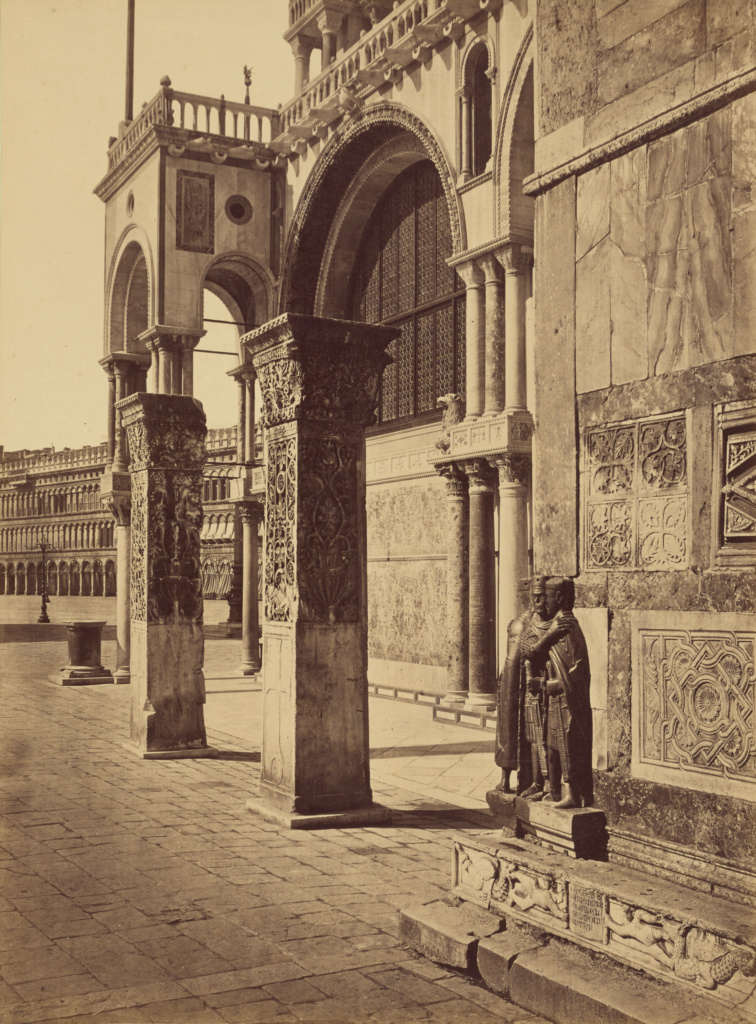 The Two Pillars, from St. John d'Acri; Unknown maker, Italian; Venice, Italy; about 1870–1890; Albumen silver print; 34.9 × 25.9 cm (13 3/4 × 10 3/16 in.); 84.XP.771.3; The J. Paul Getty Museum, Los Angeles; Rights Statement: No Copyright - United States