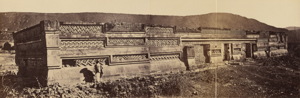 Grand Palacio, Mitla; Désiré Charnay (French, 1828 - 1915); about 1860; Albumen silver print; 15.1 × 45.7 cm (5 15/16 × 18 in.); 84.XP.776.2; The J. Paul Getty Museum, Los Angeles; Rights Statement: No Copyright - United States