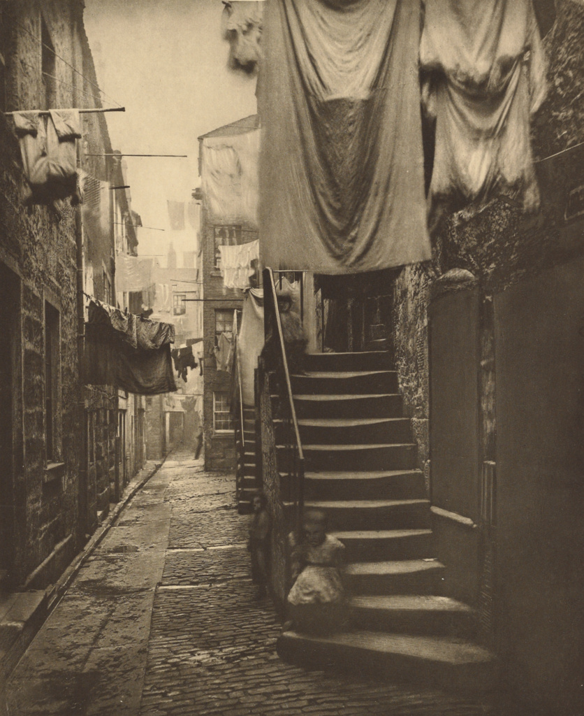 Close No. 193 High Street; Thomas Annan (Scottish,1829 - 1887); Glasgow, Scotland; 1868; Photogravure; 22.2 × 18.2 cm (8 3/4 × 7 3/16 in.); 84.XM.792.5; The J. Paul Getty Museum, Los Angeles; Rights Statement: No Copyright - United States