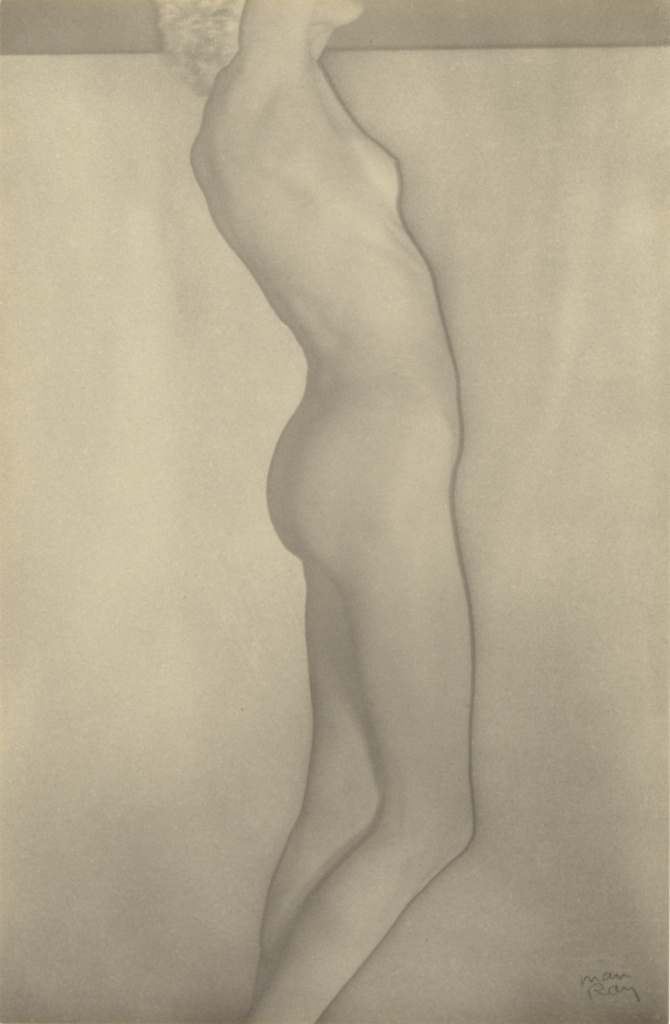 [Nusch Eluard, nude]; Man Ray (American, 1890 - 1976); 1935; Solarized gelatin silver print; 22.9 × 14.9 cm (9 × 5 7/8 in.); 84.XM.839.6; The J. Paul Getty Museum, Los Angeles; Rights Statement: In Copyright; Copyright: © Man Ray Trust ARS-ADAGP
