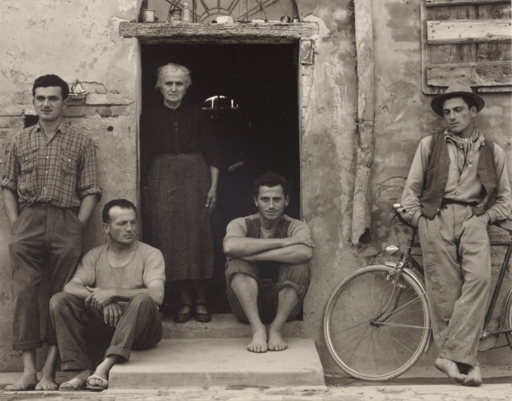 The Lusetti Family, Luzzara, Italy; Paul Strand (American, 1890 - 1976); Luzzara, Italy; 1953; Gelatin silver print; 11.7 × 15.1 cm (4 5/8 × 5 15/16 in.); 84.XM.894.2; The J. Paul Getty Museum, Los Angeles; Rights Statement: In Copyright; Copyright: © Aperture Foundation