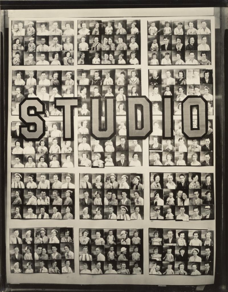 Penny Picture Display, Savannah / Photographer's Window Display, Birmingham, Alabama / Studio Portraits, Birmingham, Alabama; Walker Evans (American, 1903 - 1975); 1936; Gelatin silver print; 25.6 × 19.9 cm (10 1/16 × 7 7/8 in.); 84.XM.956.477; The J. Paul Getty Museum, Los Angeles; Rights Statement: No Copyright - United States