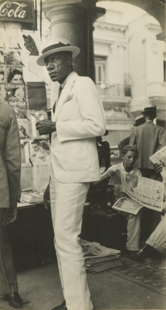 Havana Citizen / Citizen in Downtown Havana; Walker Evans (American, 1903 - 1975); 1933; Gelatin silver print; 22.2 × 11.7 cm (8 3/4 × 4 5/8 in.); 84.XM.956.484; The J. Paul Getty Museum, Los Angeles; Rights Statement: No Copyright - United States