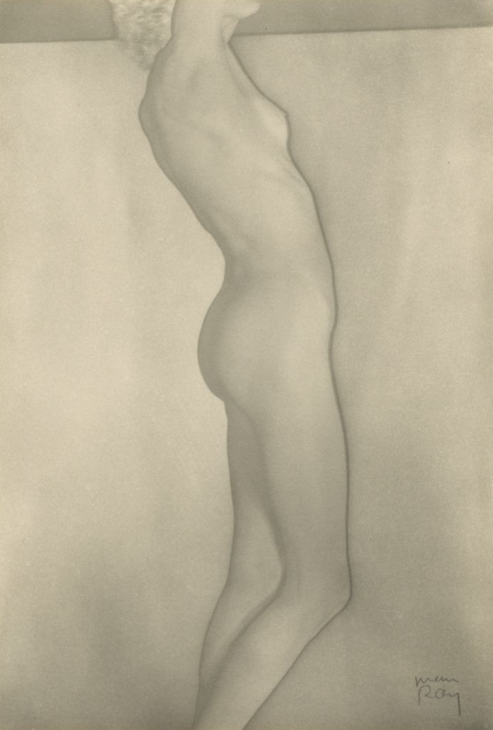 Nusch Eluard, Nude; Man Ray (American, 1890 - 1976); 1935; Solarized gelatin silver print; 22.7 × 15.4 cm (8 15/16 × 6 1/16 in.); 84.XM.1000.61; The J. Paul Getty Museum, Los Angeles; Rights Statement: In Copyright; Copyright: © Man Ray Trust ARS-ADAGP