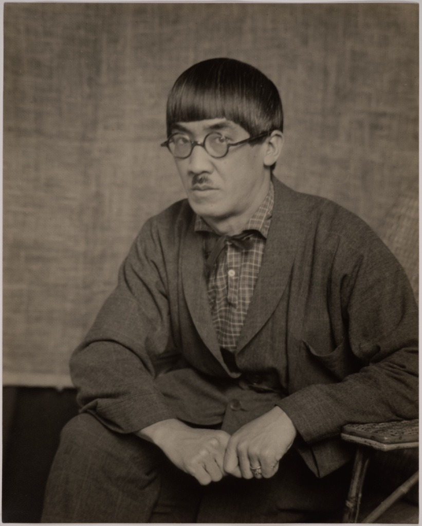 Tsuguharu Fujita; Man Ray (American, 1890 - 1976); Paris, France; 1922; Gelatin silver print; 28.1 × 22.9 cm (11 1/16 × 9 in.); 84.XM.1000.65; The J. Paul Getty Museum, Los Angeles; Rights Statement: In Copyright; Copyright: © Man Ray Trust ARS-ADAGP