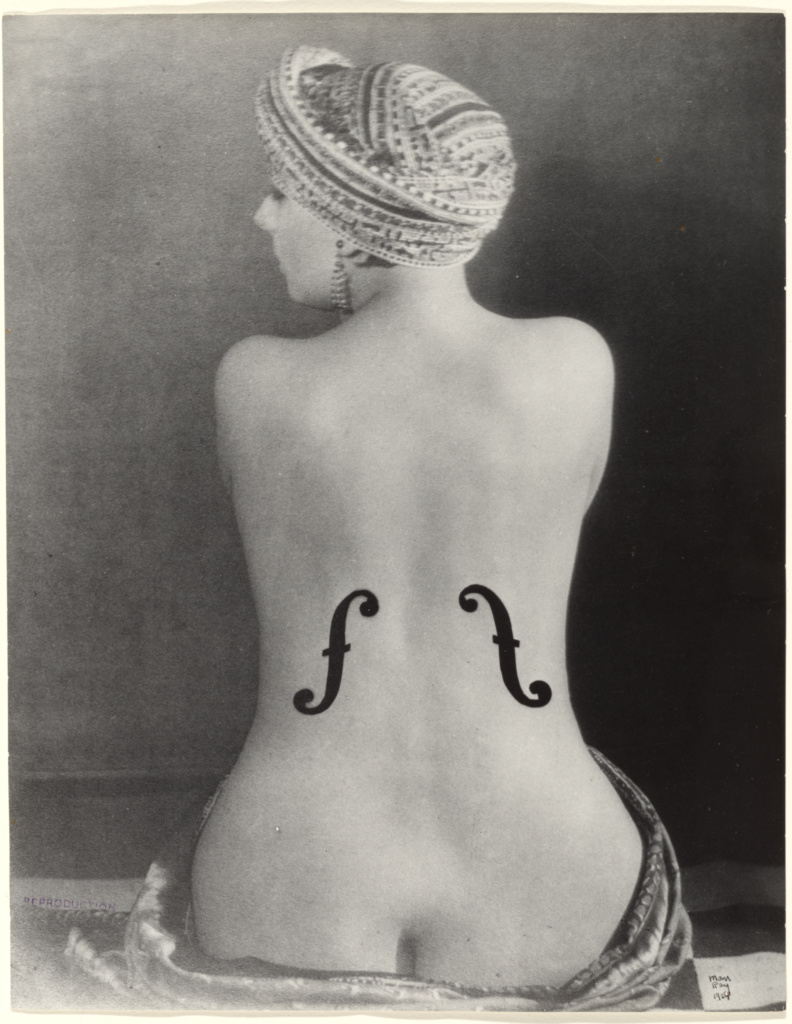 [Le Violon d'Ingres]; Man Ray (American, 1890 - 1976); negative 1924; print later; Gelatin silver print; 24.9 × 19.4 cm (9 13/16 × 7 5/8 in.); 84.XM.1000.118; The J. Paul Getty Museum, Los Angeles; Rights Statement: In Copyright; Copyright: © Man Ray Trust ARS-ADAGP