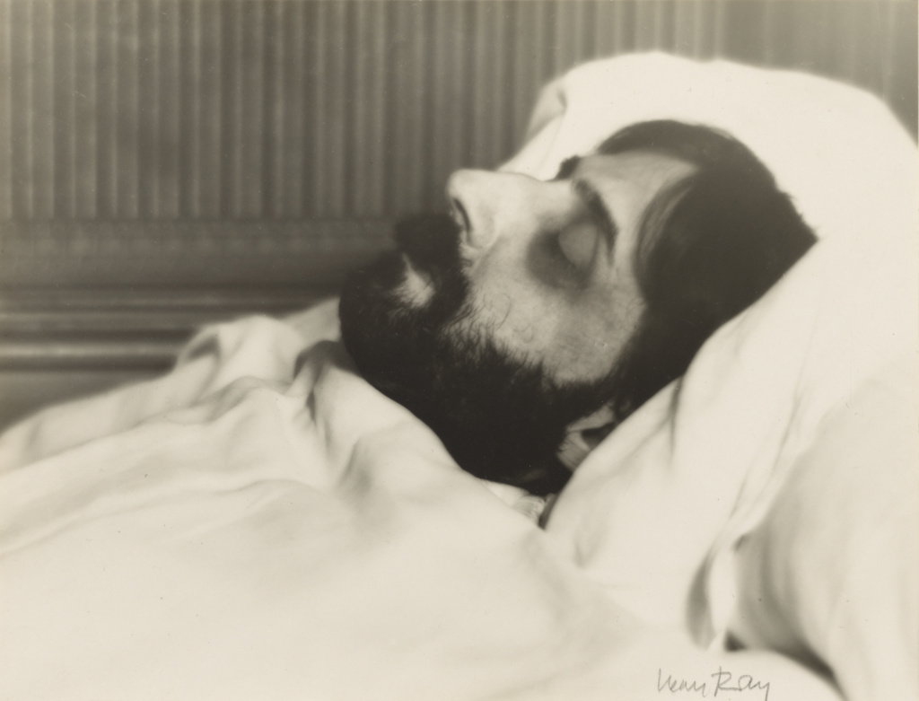 Marcel Proust on his Deathbed; Man Ray (American, 1890 - 1976); November 20, 1922; Gelatin silver print; 15.1 × 19.8 cm (5 15/16 × 7 13/16 in.); 84.XM.1000.144; The J. Paul Getty Museum, Los Angeles; Rights Statement: In Copyright; Copyright: © Man Ray Trust ARS-ADAGP
