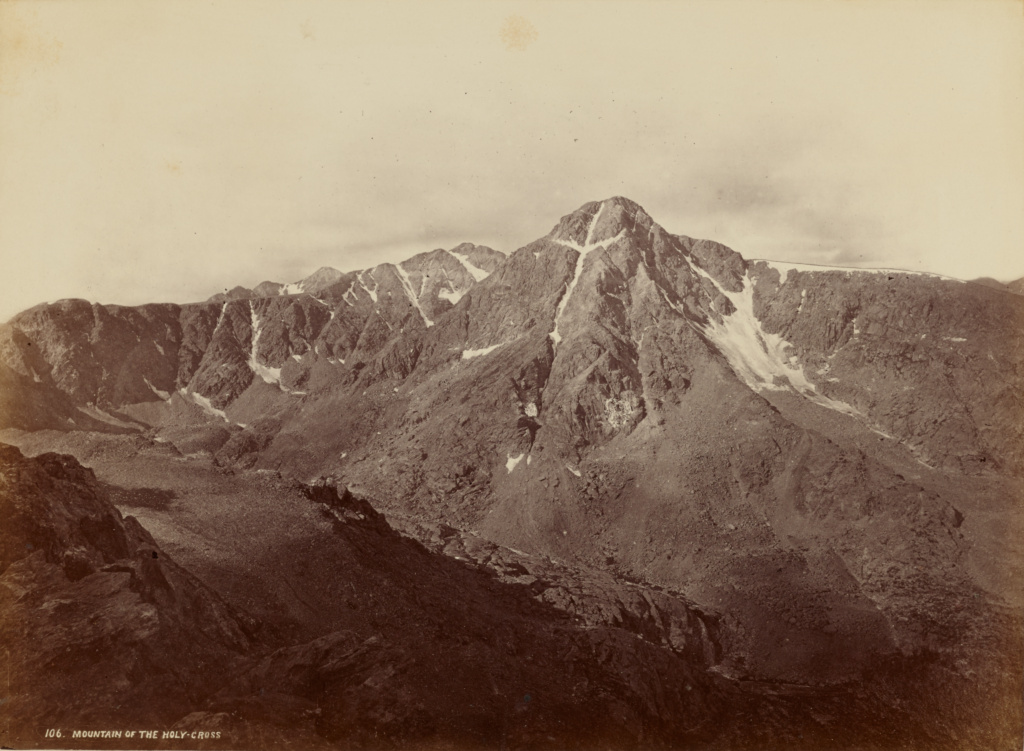 Mountain of the Holy Cross; William Henry Jackson (American, 1843 - 1942); 1873; Albumen silver print; 24.6 × 33.7 cm (9 11/16 × 13 1/4 in.); 84.XM.1015.26; Rights Statement: No Copyright - United States