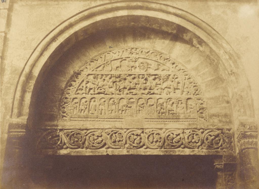 Bourges. Porte de l'Eglise de St Urbin; Pierre-Émile-Joseph Pécarrère (French, 1816 - 1904); Bourges, France; 1851; Salted paper print from a waxed paper negative; 16.3 × 22.2 cm (6 7/16 × 8 3/4 in.); 84.XP.1032.35; The J. Paul Getty Museum, Los Angeles; Rights Statement: No Copyright - United States