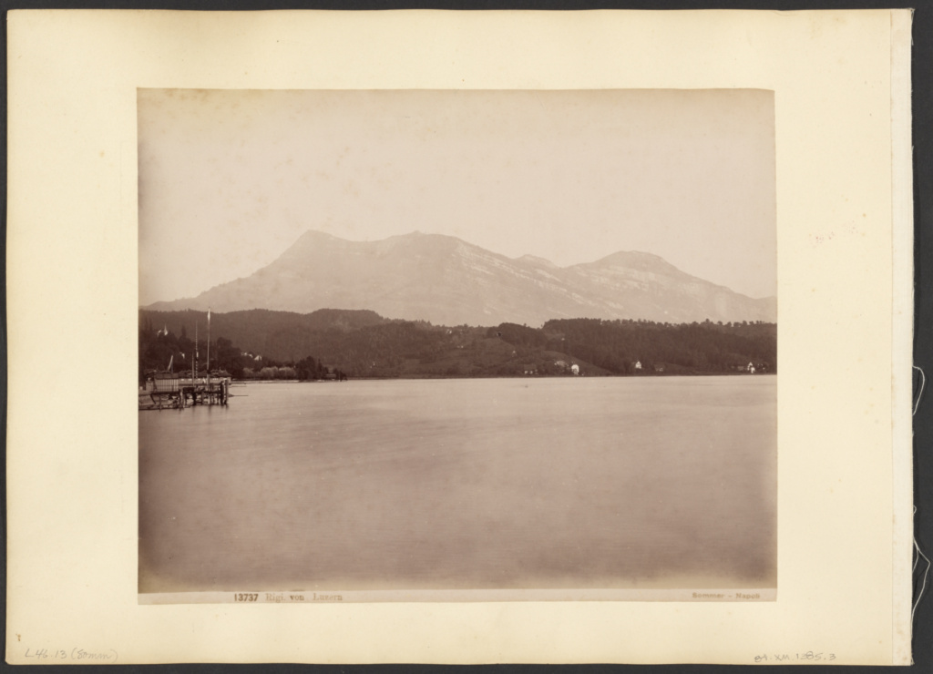 Rigi, in Lucerne; Giorgio Sommer (Italian, born Germany, 1834 - 1914); Naples, Italy; about 1880–1889; Albumen silver print; 20 × 25.6 cm (7 7/8 × 10 1/16 in.); 84.XM.1385.3; The J. Paul Getty Museum, Los Angeles; Rights Statement: No Copyright - United States