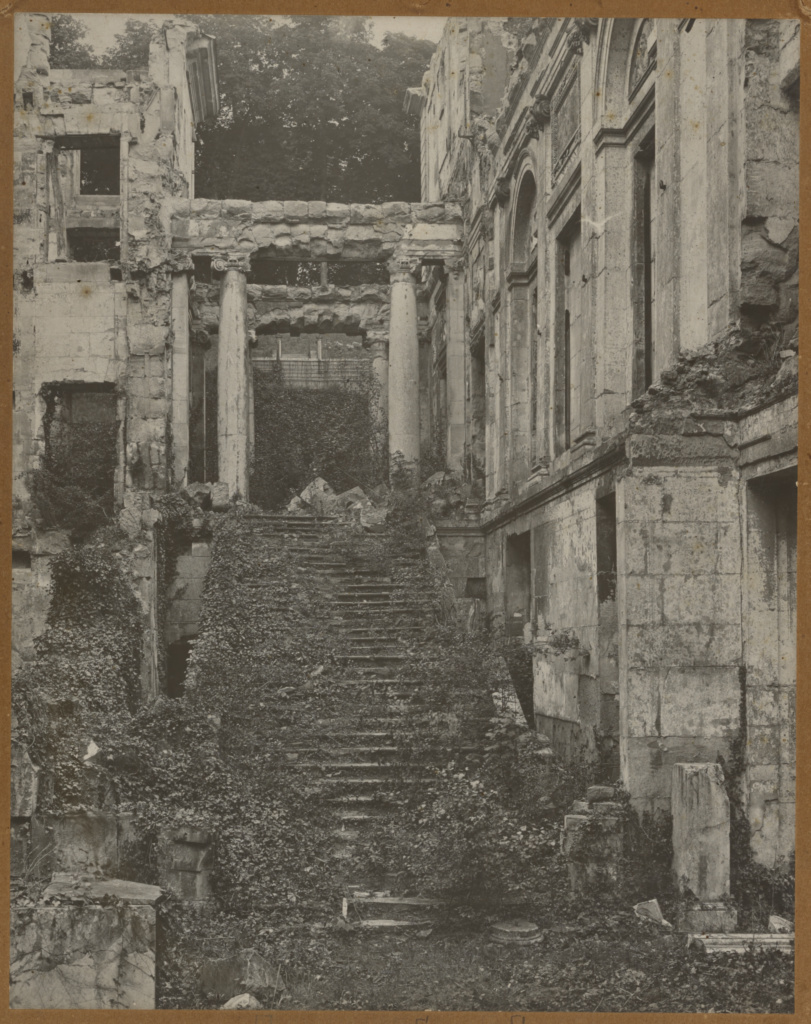 ruins of escalier d honneur chateau de saint cloud getty museum
