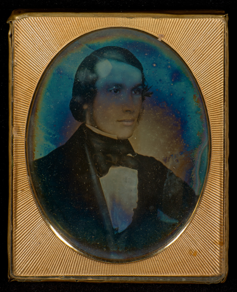 [Portrait of a man]; Attributed to Richard Beard (English 1801 - 1885); about 1841; Daguerreotype; 84.XT.1566.8; The J. Paul Getty Museum, Los Angeles; Rights Statement: No Copyright - United States