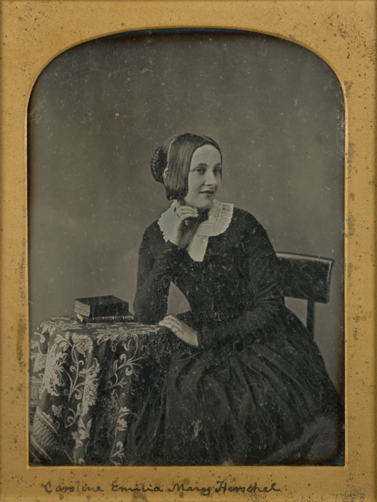 Portrait of Caroline Emilia Mary Herschel; John Jabez Edwin Mayall (English, 1813 - 1901); about 1853; Daguerreotype; 84.XT.1574.1; The J. Paul Getty Museum, Los Angeles; Rights Statement: No Copyright - United States