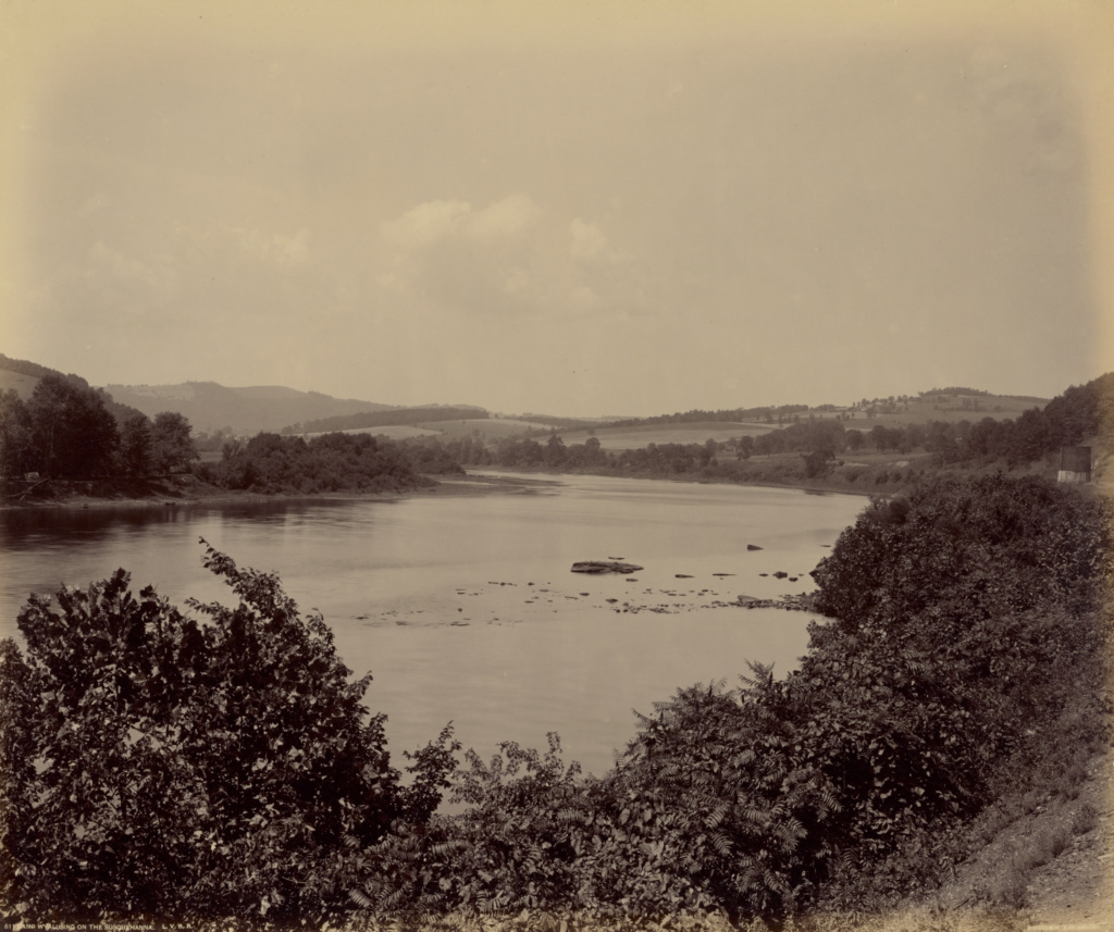 Camp Wyalusing on the Susquehanna.; William H. Rau (American, 1855 - 1920); 1895–1899; Albumen silver print; 43.5 × 51.8 cm (17 1/8 × 20 3/8 in.); 85.XM.12.1; The J. Paul Getty Museum, Los Angeles; Rights Statement: No Copyright - United States