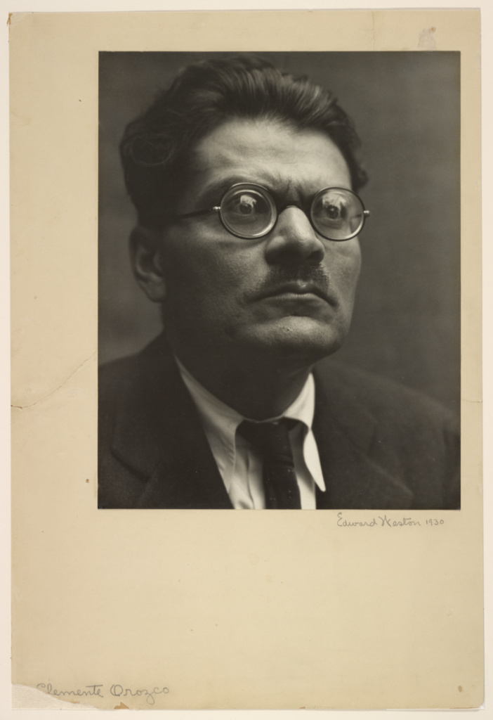 [José Clemente Orozco]; Edward Weston (American, 1886 - 1958); July 1930; Gelatin silver print; 24.9 × 19.8 cm (9 13/16 × 7 13/16 in.); 86.XM.624.1; The J. Paul Getty Museum, Los Angeles; Rights Statement: In Copyright; Copyright: © 1981 Arizona Board of Regents, Center for Creative Photography