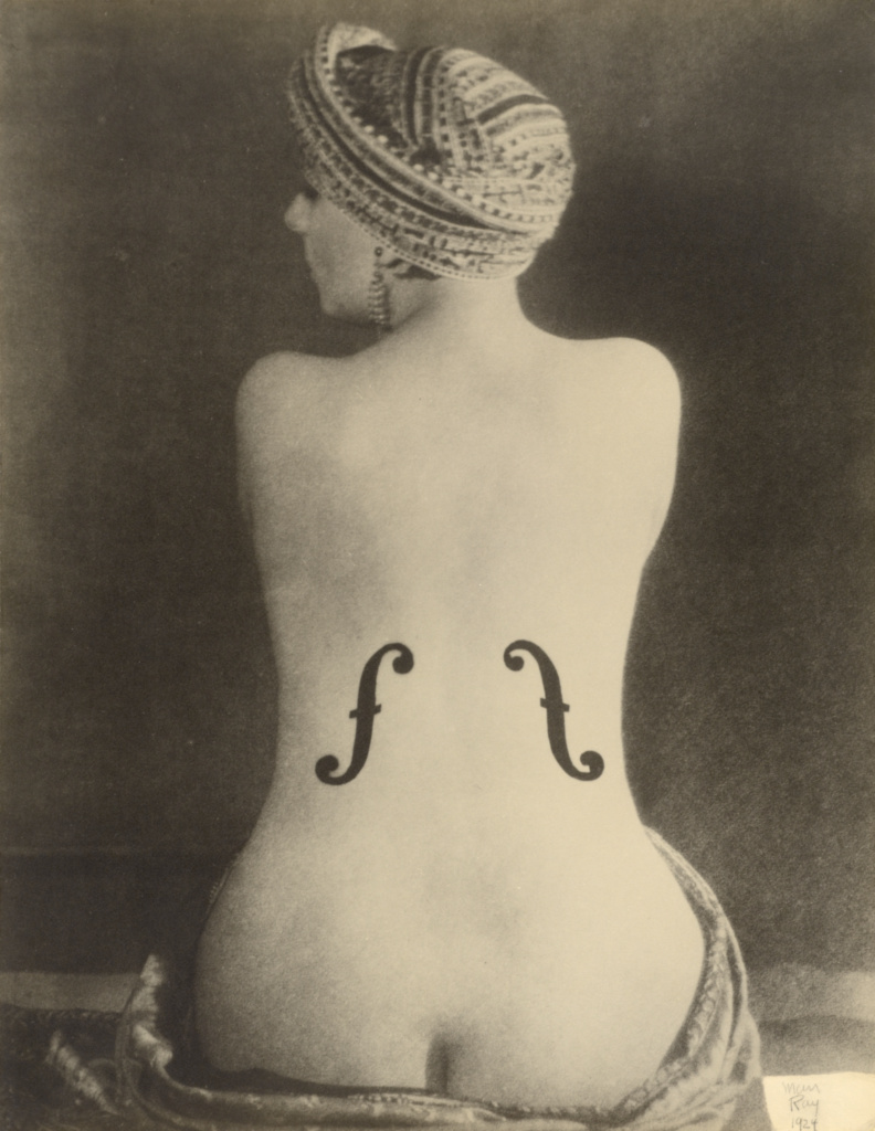 Le Violon d'Ingres (Ingres's Violin); Man Ray (American, 1890 - 1976); Paris, France; 1924; Gelatin silver print; 29.6 × 22.7 cm (11 5/8 × 8 15/16 in.); 86.XM.626.10; The J. Paul Getty Museum, Los Angeles; Rights Statement: In Copyright; Copyright: © Man Ray Trust ARS-ADAGP