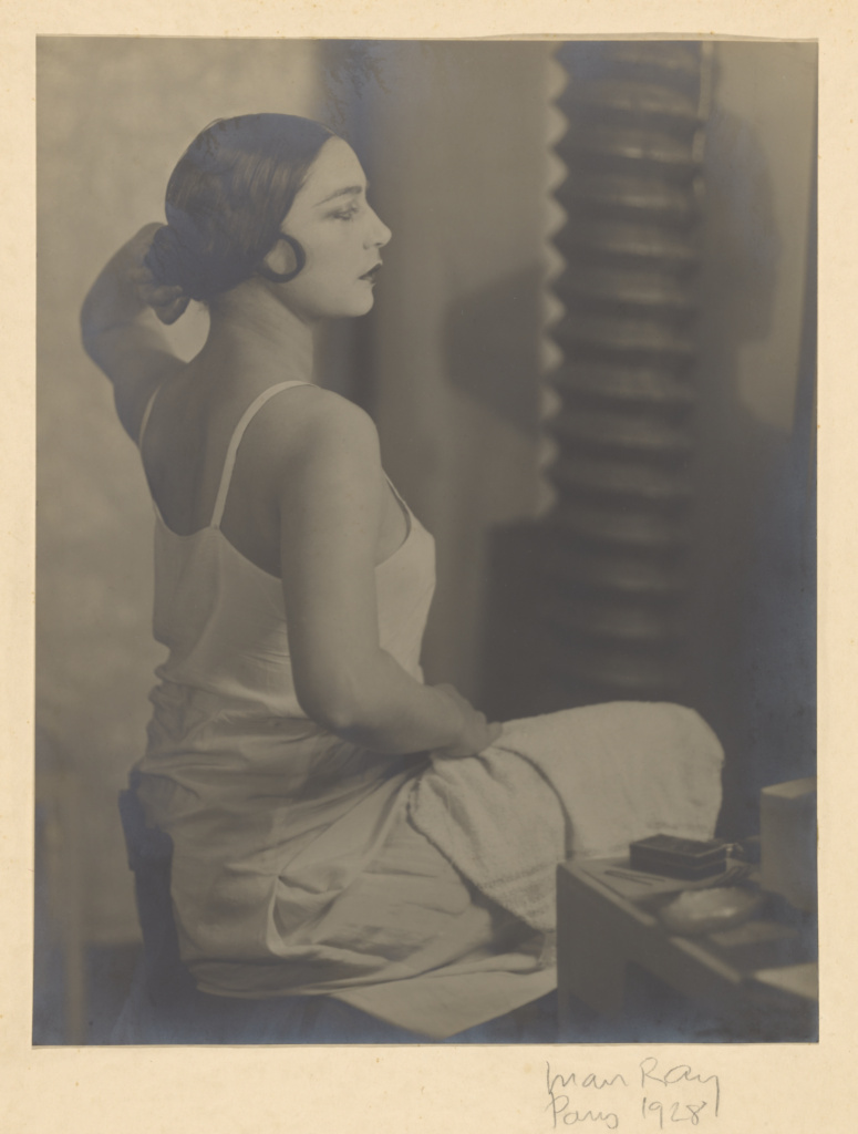 [Rosa Covarrubias]; Man Ray (American, 1890 - 1976); France; 1928; Gelatin silver print; 29.2 × 22.7 cm (11 1/2 × 8 15/16 in.); 86.XM.626.16; The J. Paul Getty Museum, Los Angeles; Rights Statement: In Copyright; Copyright: © Man Ray Trust ARS-ADAGP