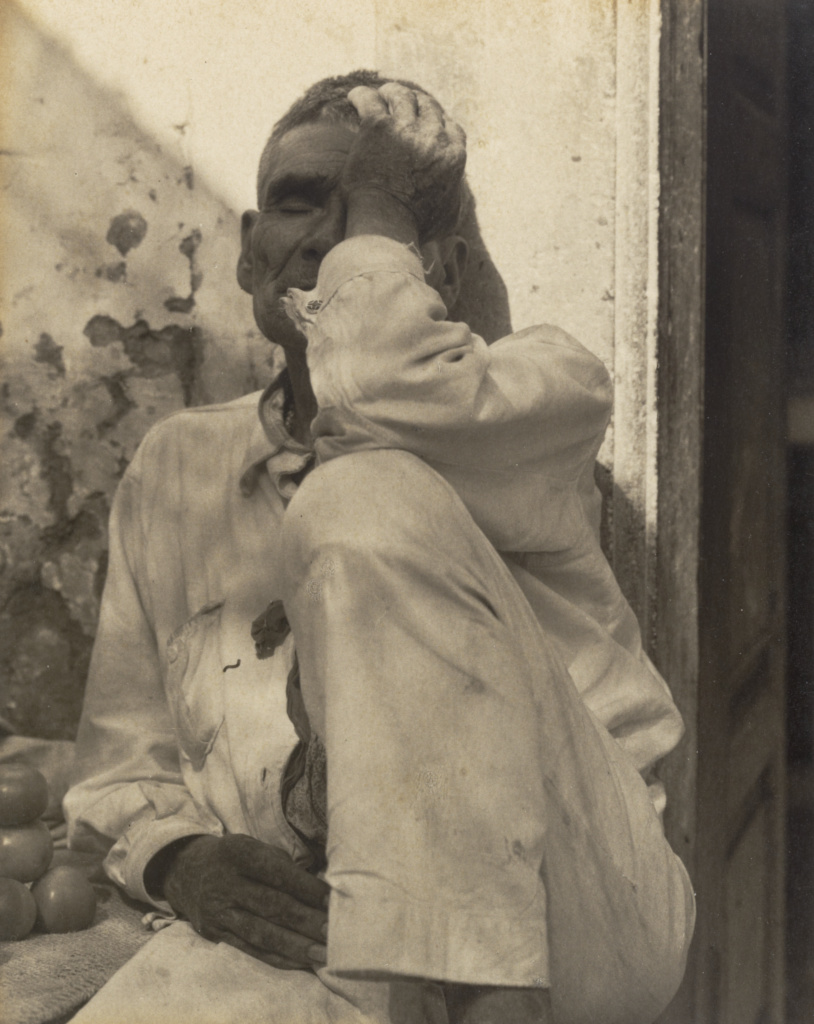 Seated Man, Uruapan del Progreso, Michoacán, Mexico; Paul Strand (American, 1890 - 1976); Mexico; 1933; Platinum print; 14.9 × 11.7 cm (5 7/8 × 4 5/8 in.); 86.XM.683.67; The J. Paul Getty Museum, Los Angeles; Rights Statement: In Copyright; Copyright: © Aperture Foundation