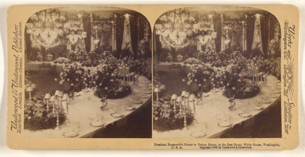President Roosevelt S Dinner To Prince Henry In The East Room White House Washington U S A Getty Museum