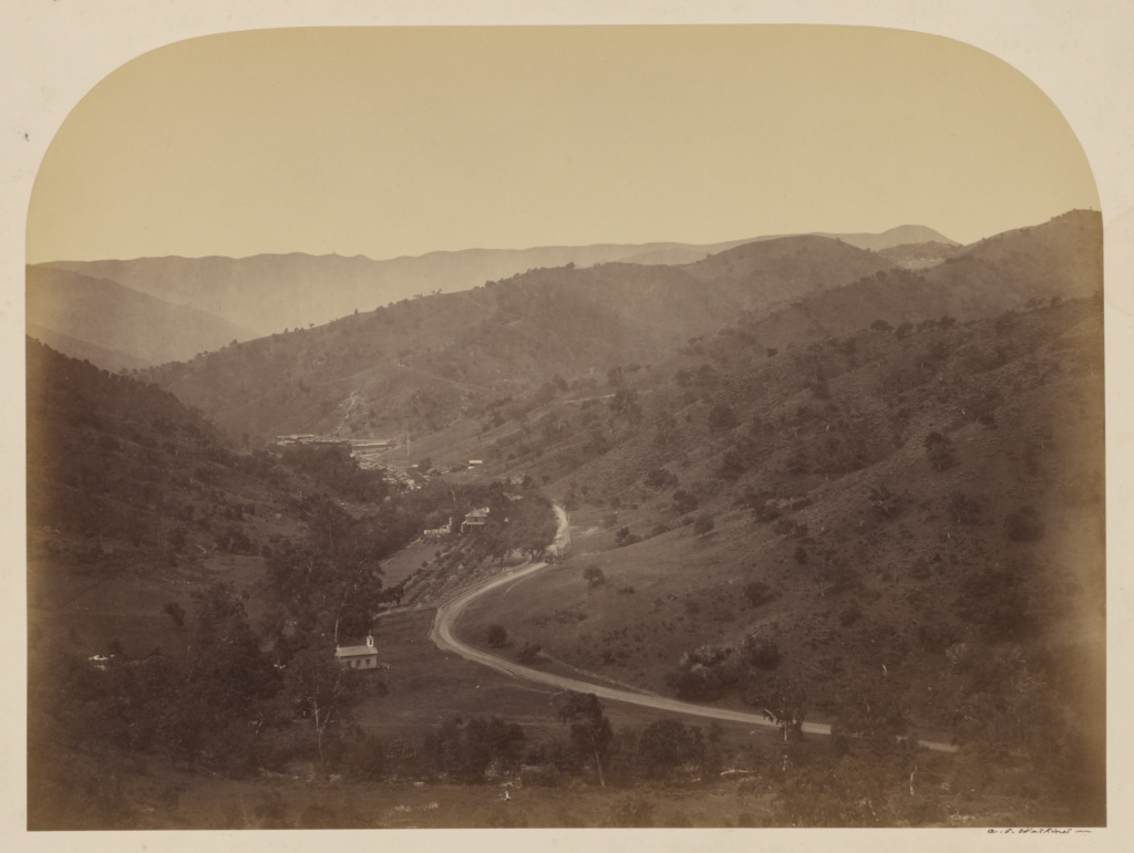 [New Almaden]; Carleton Watkins (American, 1829 - 1916); Santa Clara, California, United States; 1863; Albumen silver print; 38.1 × 51.1 cm (15 × 20 1/8 in.); 85.XM.11.9; The J. Paul Getty Museum, Los Angeles; Rights Statement: No Copyright - United States