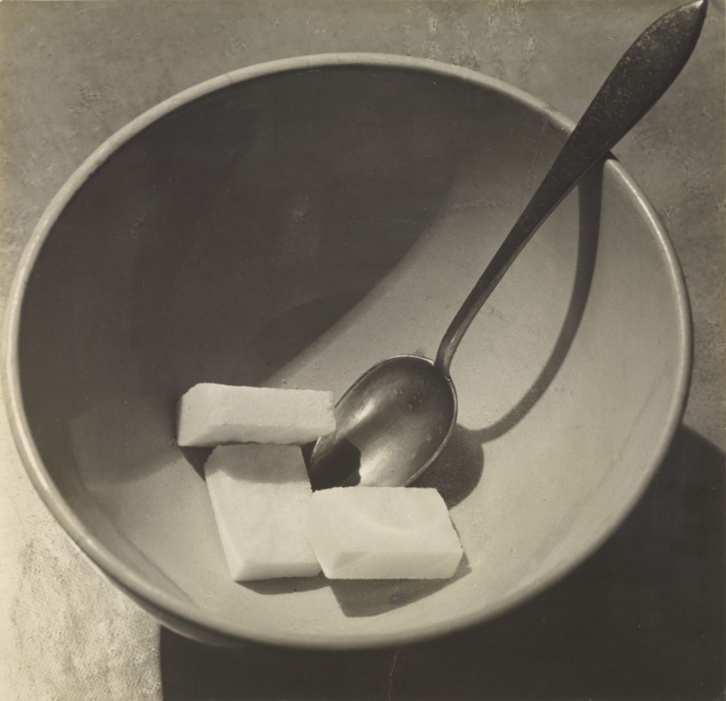 [Bowl with Sugar Cubes]; André Kertész (American, born Hungary, 1894 - 1985); Paris, France; 1928; Gelatin silver print; 16.7 × 16.4 cm (6 9/16 × 6 1/2 in.); 84.XM.193.46; The J. Paul Getty Museum, Los Angeles; Rights Statement: In Copyright; Copyright: © Estate of André Kertész