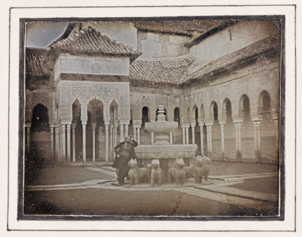 [Court of the Lions, The Alhambra]; Attributed to Théophile Gautier (French, 1811 - 1872), Eugène Piot (French, 1812 - 1890); Granada, Spain; 1840; Daguerreotype; Plate: 8.1 × 10.5 cm (3 3/16 × 4 1/8 in.); 84.XT.265.29; The J. Paul Getty Museum, Los Angeles; Rights Statement: No Copyright - United States