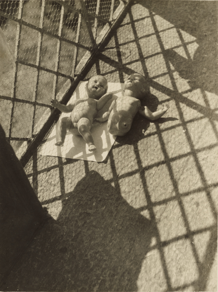 Puppen; László Moholy-Nagy (American, born Hungary, 1895 - 1946); Ascona, Switzerland; 1926–1927; Gelatin silver print; 23.5 × 17.6 cm (9 1/4 × 6 15/16 in.); 85.XP.260.194; The J. Paul Getty Museum, Los Angeles; Rights Statement: In Copyright; Copyright: © 2014 Estate of László Moholy-Nagy / Artists Rights Society (ARS), New York