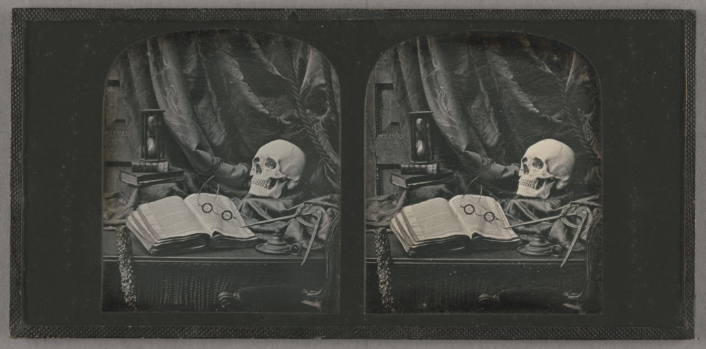 GSG: q=Vanitas / Still Life of Skull, Books, and Hourglass / The