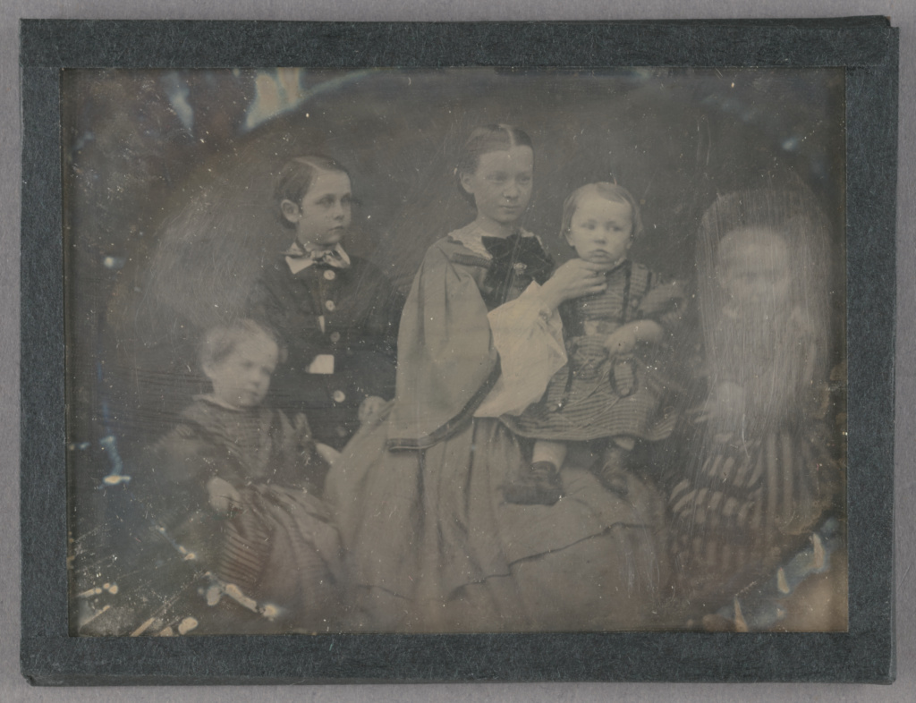 [Portrait of a Woman with Her Four Children]; Bertha Wehnert-Beckmann (German, 1815 - 1901); about 1858; Daguerreotype; 84.XT.268.2; Rights Statement: No Copyright - United States