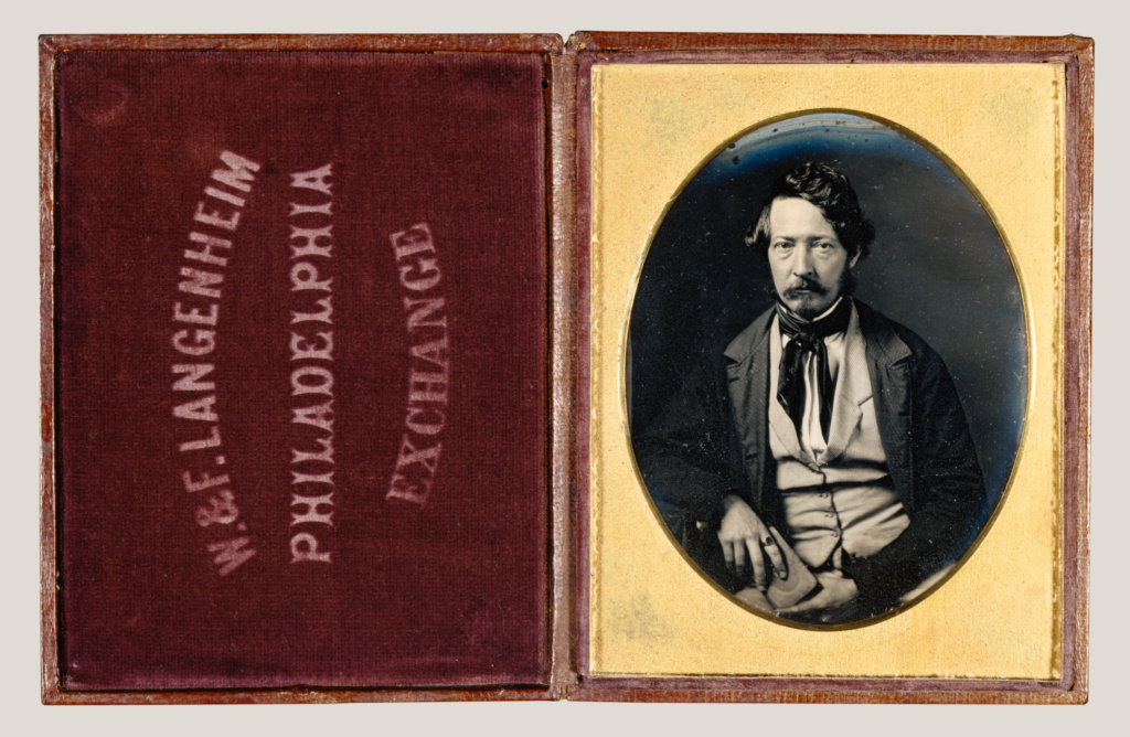 Portrait of Frederick Langenheim; William Langenheim (American, born Germany, 1807 - 1874); about 1848; Daguerreotype; 8.9 × 7 cm (3 1/2 × 2 3/4 in.); 84.XT.172.3; The J. Paul Getty Museum, Los Angeles; Rights Statement: No Copyright - United States