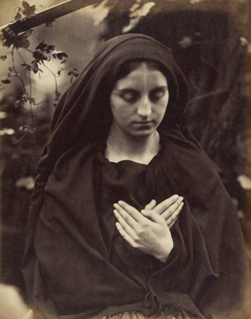 Il Penseroso; Julia Margaret Cameron (British, born India, 1815 - 1879); Freshwater, Isle of Wight, England; about 1864; Albumen silver print; 25.4 × 20 cm (10 × 7 7/8 in.); 84.XZ.186.23; The J. Paul Getty Museum, Los Angeles; Rights Statement: No Copyright - United States
