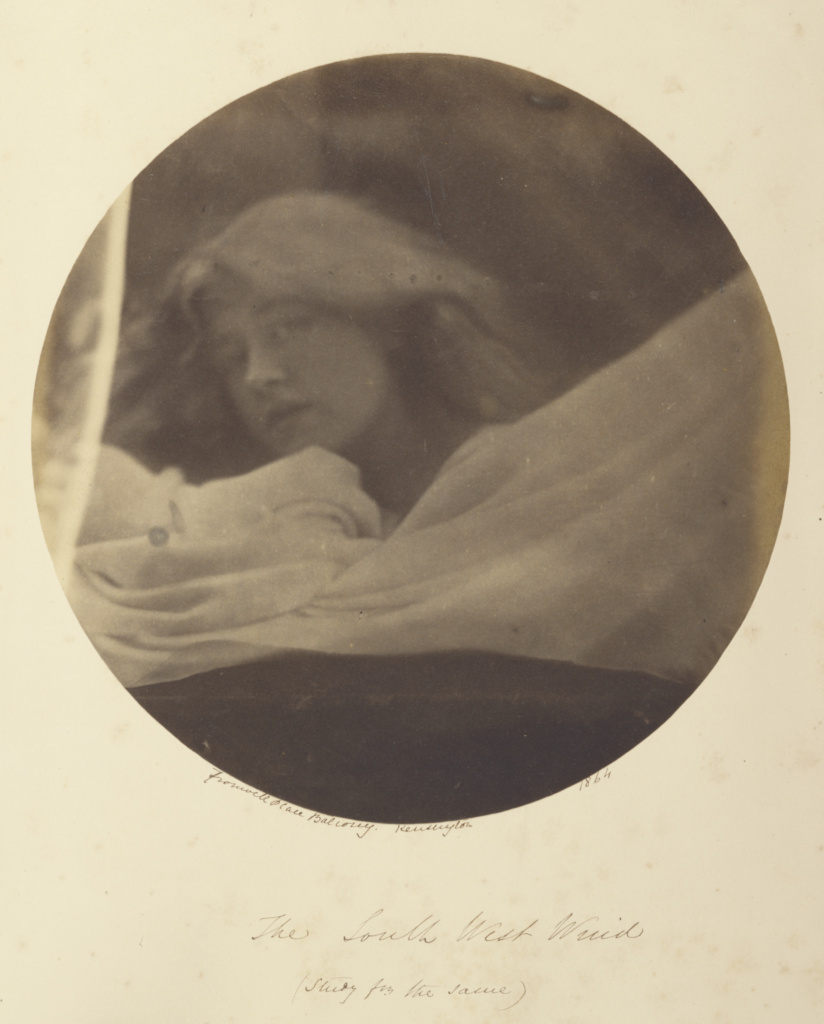 The South West Wind; Julia Margaret Cameron (British, born India, 1815 - 1879); London, England; 1864; Albumen silver print; 20.8 cm (8 3/16 in.); 84.XZ.186.53; The J. Paul Getty Museum, Los Angeles; Rights Statement: No Copyright - United States