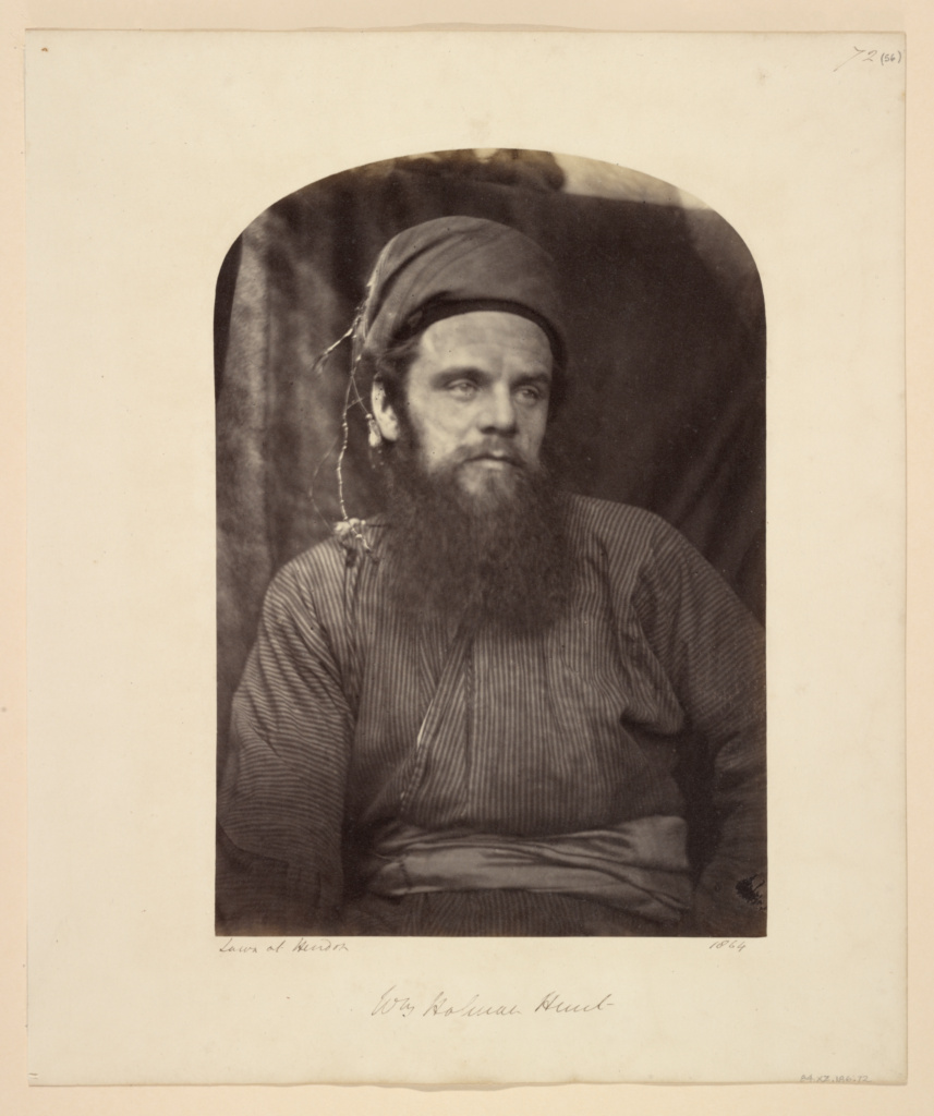 Wm. Holman Hunt; Julia Margaret Cameron (British, born India, 1815 - 1879); Freshwater, Isle of Wight, England; 1864; Albumen silver print; 25.4 × 17.8 cm (10 × 7 in.); 84.XZ.186.72; The J. Paul Getty Museum, Los Angeles; Rights Statement: No Copyright - United States