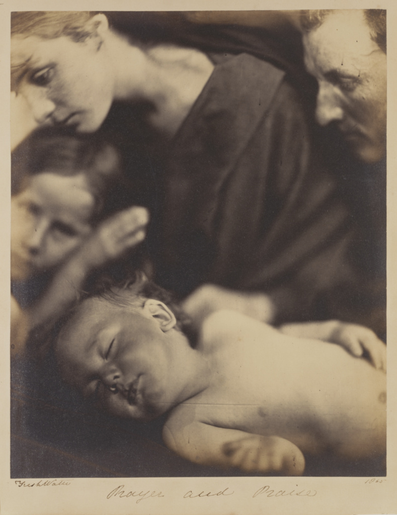 Prayer and Praise; Julia Margaret Cameron (British, born India, 1815 - 1879); Freshwater, Isle of Wight, England; 1865; Albumen silver print; 28.1 × 22.7 cm (11 1/16 × 8 15/16 in.); 84.XZ.186.91; The J. Paul Getty Museum, Los Angeles; Rights Statement: No Copyright - United States