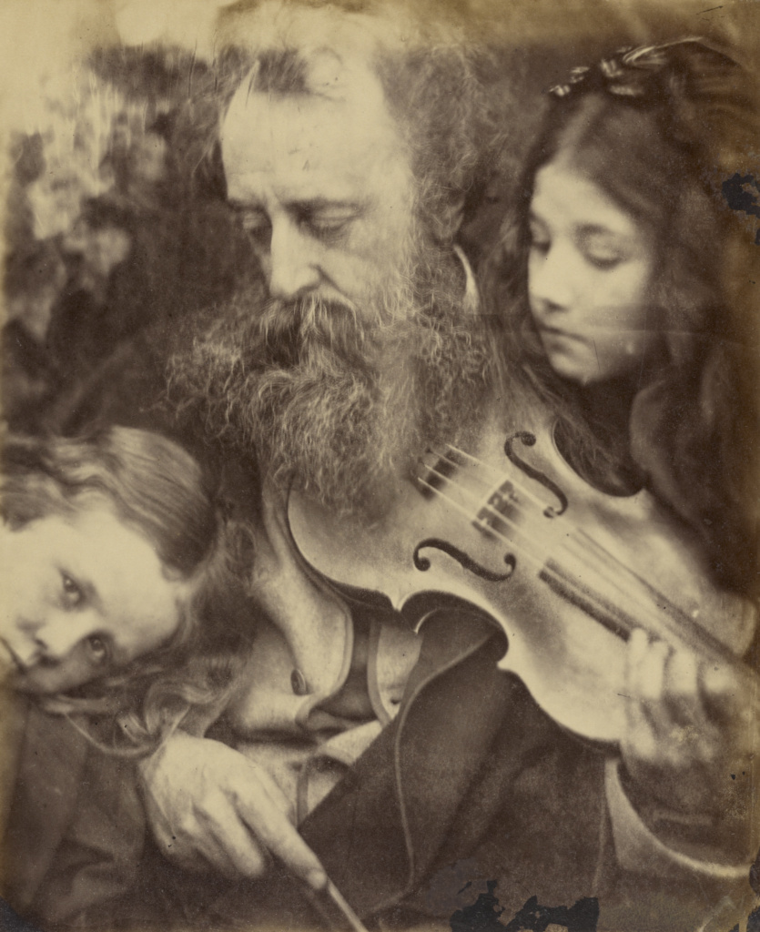 The Whisper of the Muse / Portrait of G.F. Watts; Julia Margaret Cameron (British, born India, 1815 - 1879); Freshwater, Isle of Wight, England; April 1865; Albumen silver print; 26 × 21.4 cm (10 1/4 × 8 7/16 in.); 84.XZ.186.96; The J. Paul Getty Museum, Los Angeles; Rights Statement: No Copyright - United States