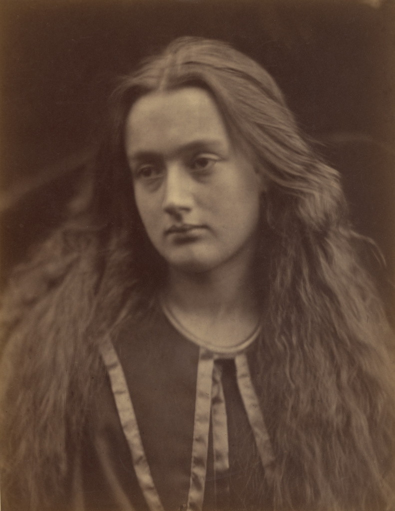 My Ewen's Bride; Julia Margaret Cameron (British, born India, 1815 - 1879); Freshwater, Isle of Wight, England; 1869; Albumen silver print; 31.3 × 24.1 cm (12 5/16 × 9 1/2 in.); 84.XM.349.8; The J. Paul Getty Museum, Los Angeles; Rights Statement: No Copyright - United States