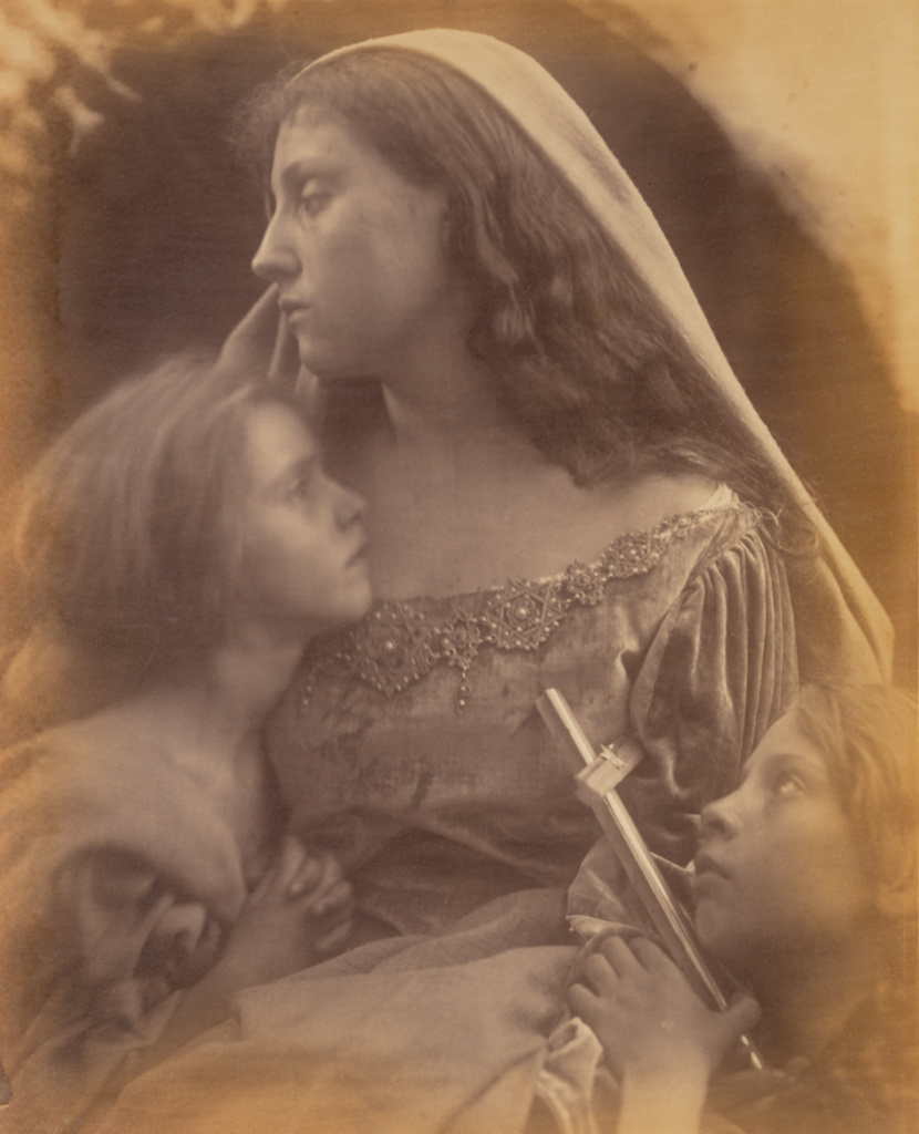 [Holy Family]; Julia Margaret Cameron (British, born India, 1815 - 1879); Freshwater, Isle of Wight, England; 1872; Albumen silver print; 33.3 × 27 cm (13 1/8 × 10 5/8 in.); 84.XM.443.19; The J. Paul Getty Museum, Los Angeles; Rights Statement: No Copyright - United States