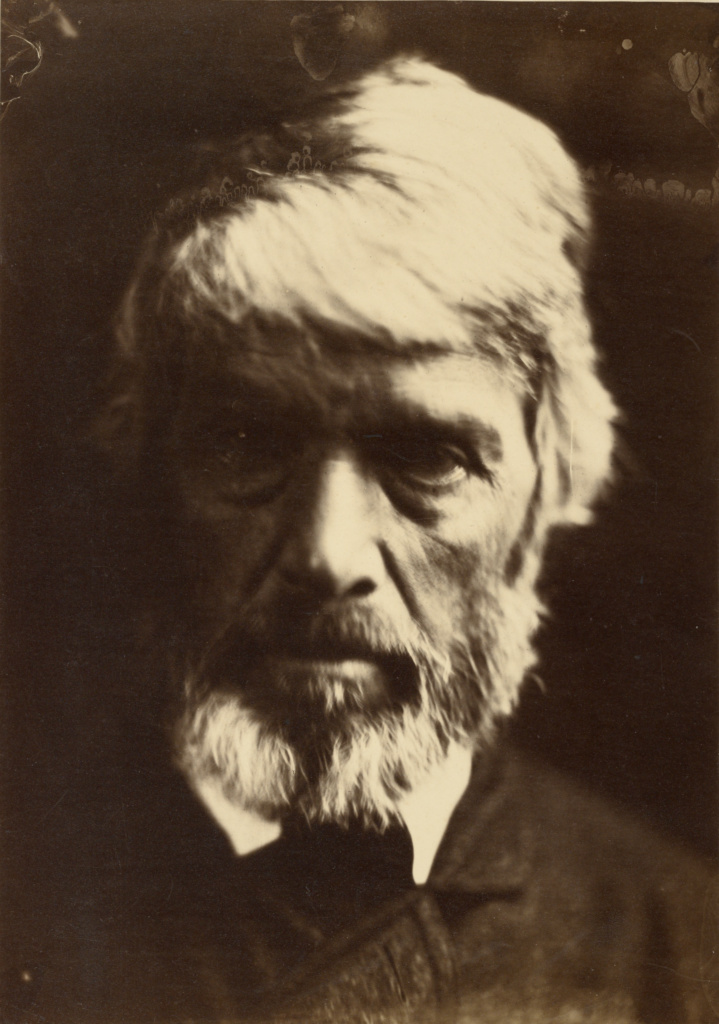 [Thomas Carlyle]; Julia Margaret Cameron (British, born India, 1815 - 1879); London, England; 1867; Albumen silver print; 36.7 × 25.9 cm (14 7/16 × 10 3/16 in.); 84.XM.443.23; The J. Paul Getty Museum, Los Angeles; Rights Statement: No Copyright - United States